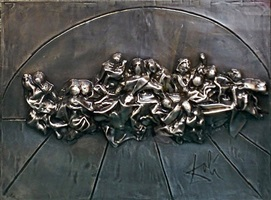 the last supper platinum by salvador dalí