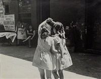 n.y.c. (two girls from behind) by helen levitt