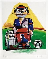 fussballer (torwart) by otmar alt