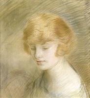 portrait d'une jeune femme americaine by paul césar helleu