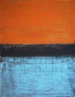 orange and blue landscape by bradley narduzzi rex