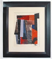 abstract geometric gouache by boris jean lacroix
