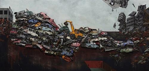 landscape lamentation by gunwoo shin