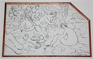 fete champetre (detail) by andré derain
