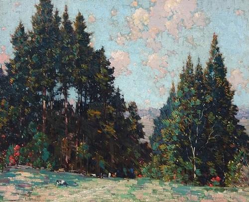pastoral landscape by gustave cimiotti