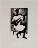 blues player by elizabeth catlett
