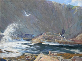 a summer day along the cliffs by john lavalle