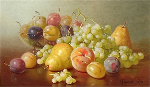 still life with fruit by edward chalmers leavitt