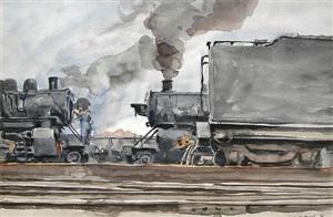 the train by reginald marsh