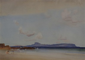 view of eigg by william russell flint