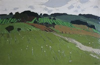 fields at thenac, dordogne by sir kyffin williams