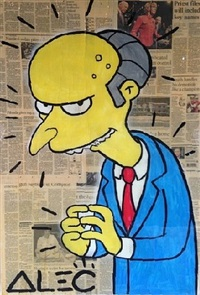 mr. burns by alec monopoly
