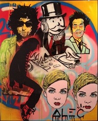 dj collage by alec monopoly
