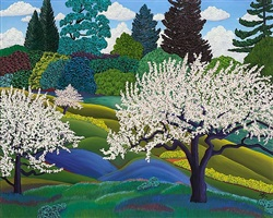 apple trees by jack stuppin