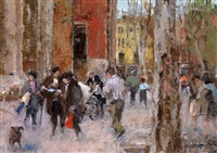 residents in campo s. giacomo dell'orio, venice by diana armfield
