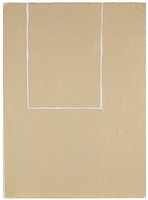 open study (white line on beige #2) by robert motherwell