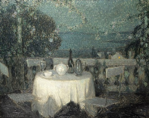table au clair de lune by henri le sidaner