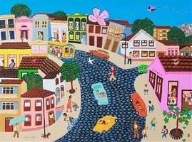 ladeira da casa torta (the sloped street with the twisted house) by helena coelho