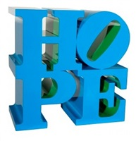 hope blue-green by robert indiana