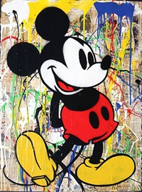 mickey mouse (unique varnished) by mr. brainwash