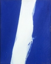 white in blue by cleve gray