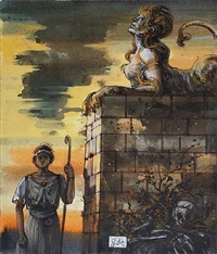 oedipus and the sphinx by eugene berman