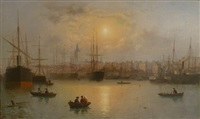the harbour of aberdeen, scotland by david james