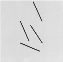 4 exzentrische streifen a-synchron, kinetisches objekt by gerhard von graevenitz