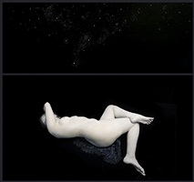 bodies: with curves of moon. audrey in cosmos i by nadav kander