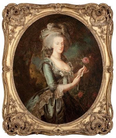 portrait of marie antoinette by elisabeth louise vigée le brun