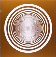 elliptical series b: white on gold by francis celentano