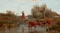 crossing the stream by ludwig sellmayr