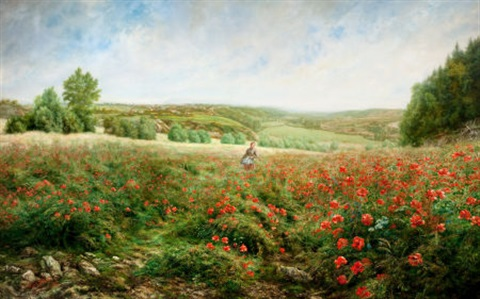 un coin de pré en fleurs a corner of the field in bloom by arthur pierre arthur gaillard