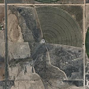 pivot irrigation #24, high plains, texas panhandle, usa by edward burtynsky
