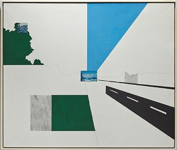 looking north at 131 mile marker by allan d'arcangelo