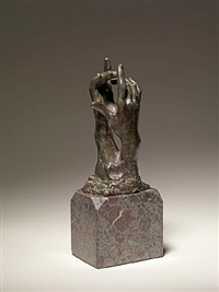 two hands - study for the secret by auguste rodin