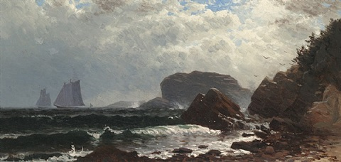 passing weather, maine by alfred thompson bricher