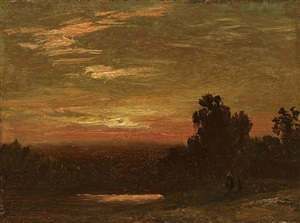 sunset, hudson valley by david johnson