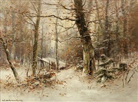 winter woods by dubois fenelon hasbrouck