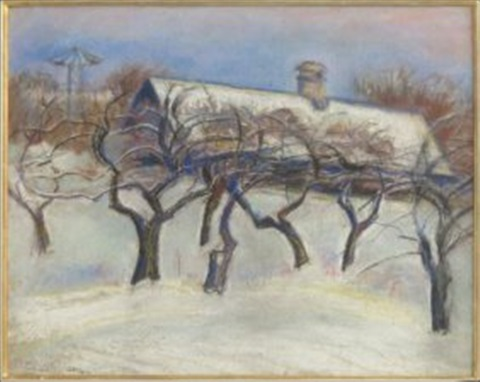 paysage hiver by armand guillaumin