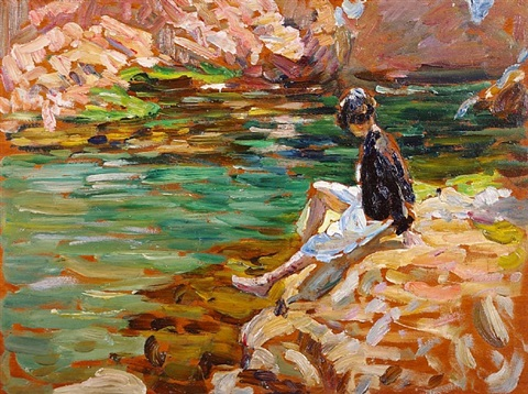 the green pool, tossa, spain by dorothea sharp