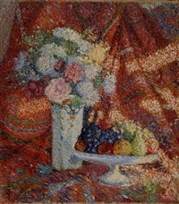 bouquet et corbeille de fruits by jean puy
