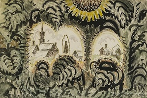 sunflower arches by charles ephraim burchfield