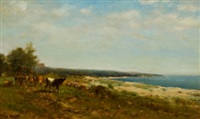 cattle along the waterside by james mcdougal hart