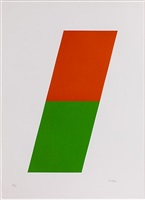 orange/green by ellsworth kelly