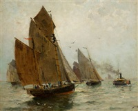 boston harbor by james macdonald barnsley