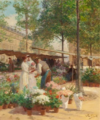 paris, place de la république by victor gabriel gilbert