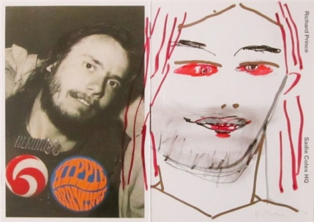 self-portrait as a hippie by richard prince