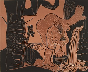 woman at a spring by pablo picasso