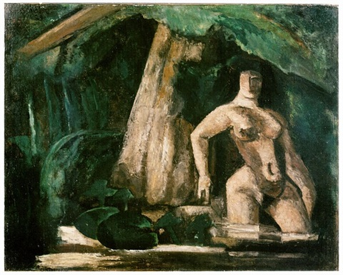 nu dans un paysage (nude in a forest) by marcel gromaire